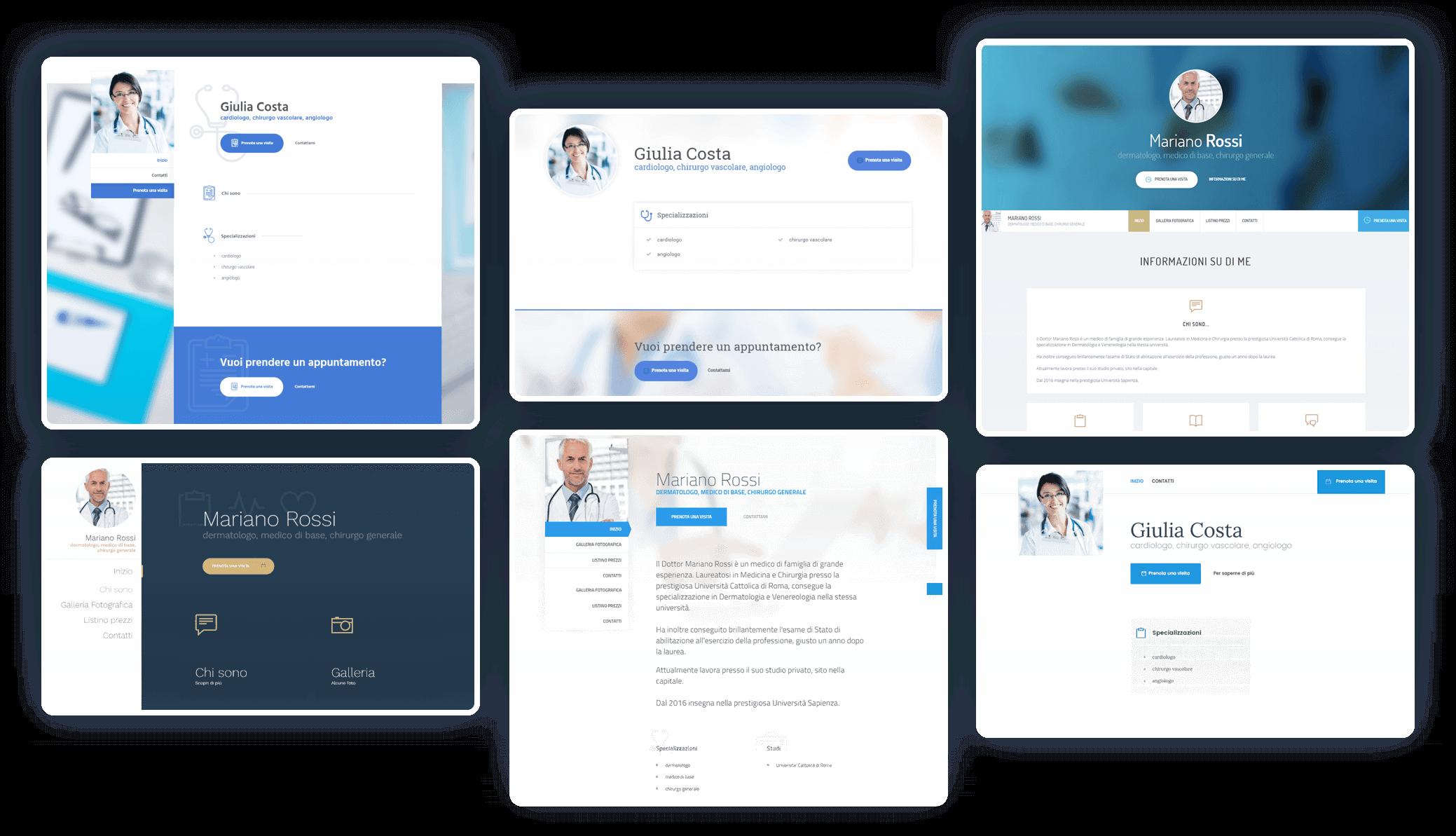 Sito web per medici, facile da usare ed efficace